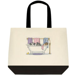 Tubby Bears  Two Tone Tote Bag