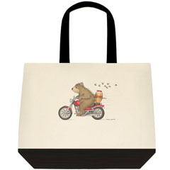 Honey on the Run Two Tone Tote
