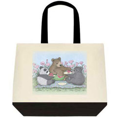 Melon Picnic Two Tone Tote Bag