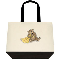 Beary Big Yawn 2 Tone Tote Bag