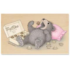 Gruffies® -   Beary Full of Truffles - Gruffies® Rubber Stamps
